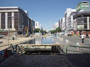 9月30日まで姫路駅前にて実証実験中の水盤です。